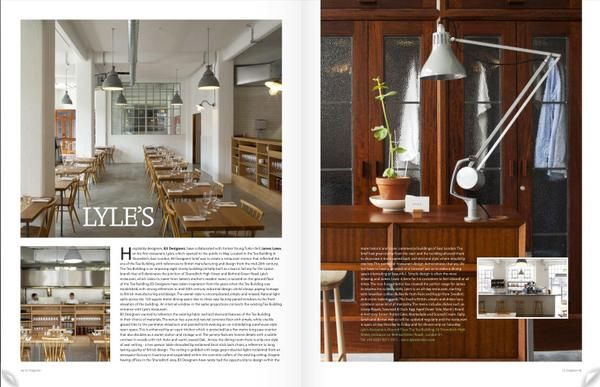 Lyles London In the Tea Building Designed by B3 Designers