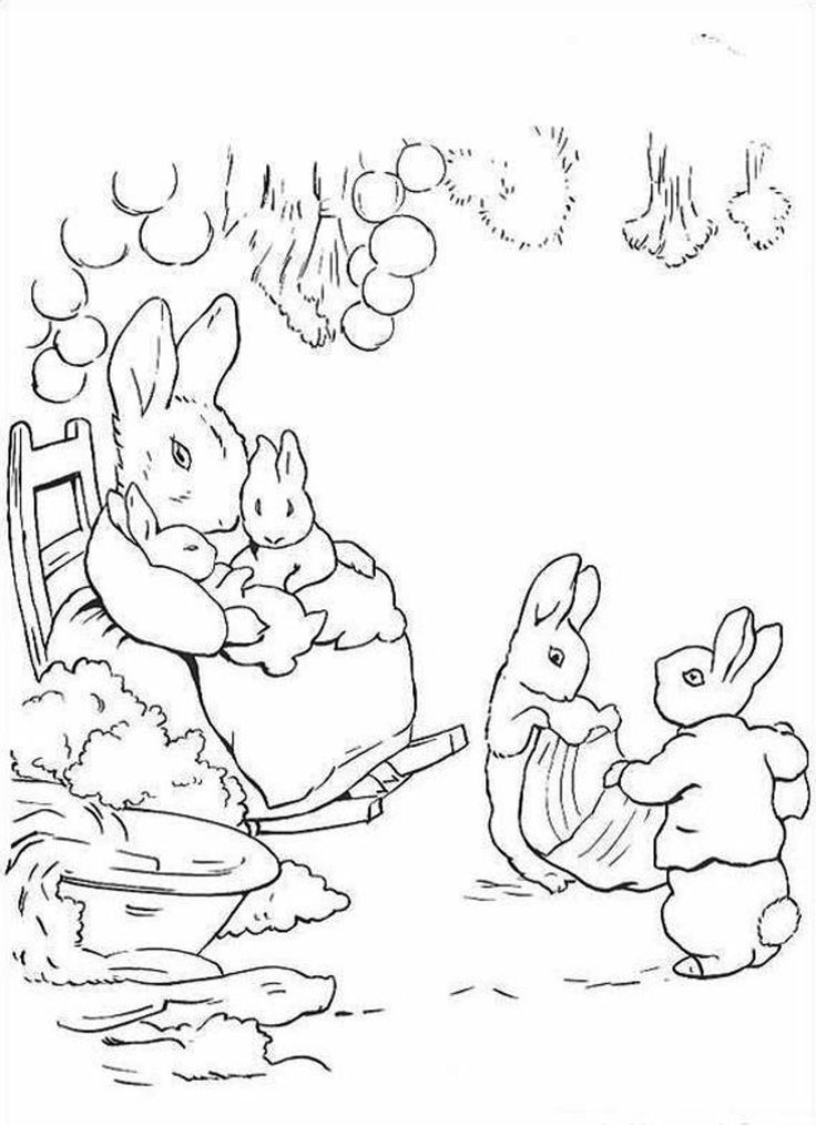 peter rabbit cartoon coloring pages - photo#16