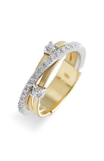 I love the three bands. Husband and Wife can be represented by the gold and the silver, God protecting my marriage.