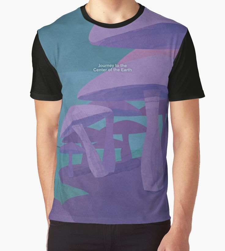 """""""Journey to the Center of the Earth - Jules Verne"""" Graphic T-Shirts by RedHillPrints   Redbubble"""