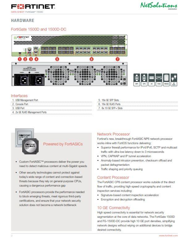 PT. #Netsolutions Infonet #Fortinet 1500D and 1500D-DC