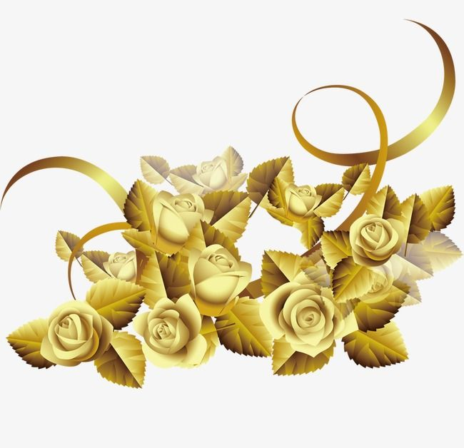 Flowers Flowers Gold Roses Creative Taobao Flowers Flowers Gold Roses Png Transparent Clipart Image And Psd File For Free Download Gold Rose Gold Creative