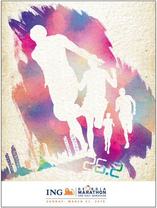ing marathon poster by Yoonae Goh, via Behance #marketingsportowy #marketingsportu