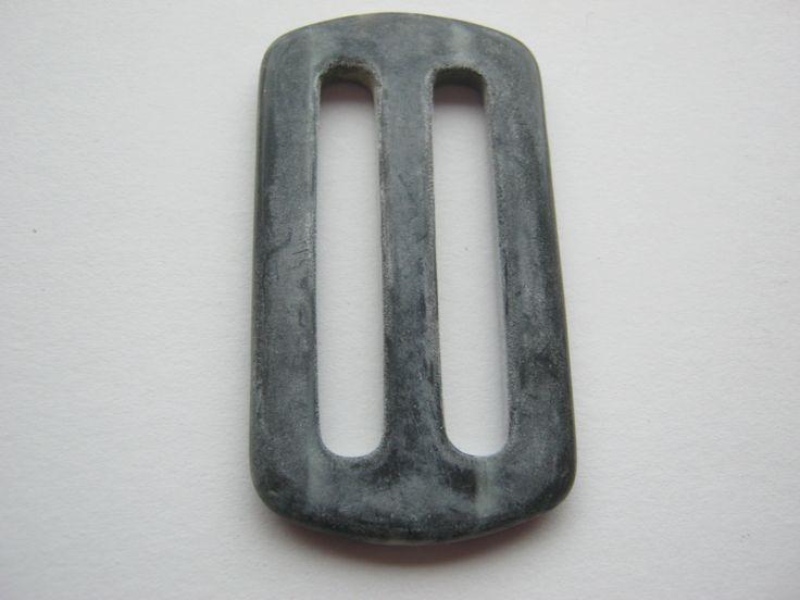 16 Stück flache Gürtelschnallen ohne Dorn,Grau,Rechteck ca.57/30 mm,Steg ca.40 mm,Neu,Lübecker Knopfmanufaktur von Knopfshop auf Etsy