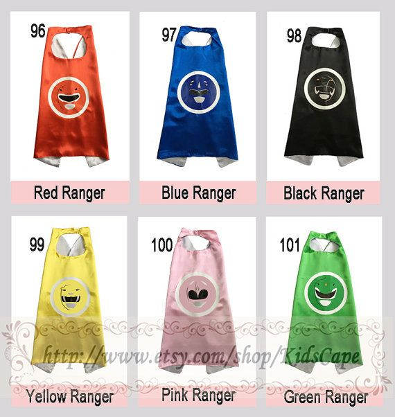 Power Rangers capes  Reversible capes  Kids Birthday by KidsCape