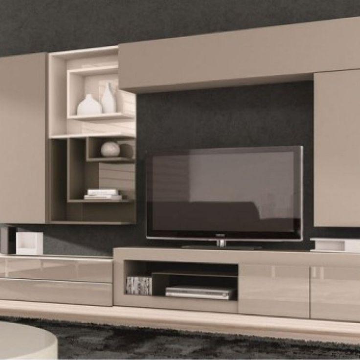 Meuble TV design taupe Juana
