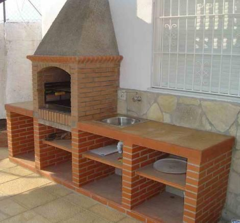 10 best images about asador de ladrillos on pinterest a for Asadores de carne para jardin de ladrillo