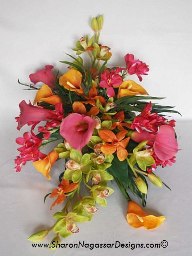 tropical flower arrangements | Tropical Floral Arrangements Table