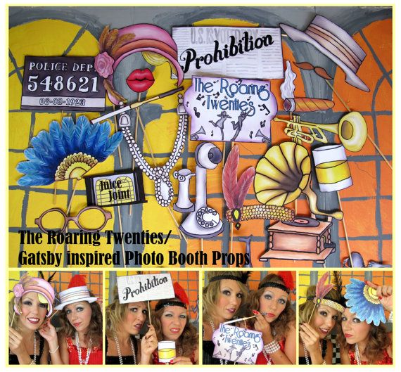 The Roaring Twenties/ Gatsby inspired photo booth props