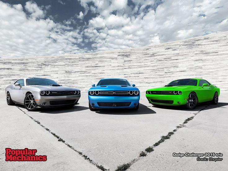 Dodge Challenger 2015 trio - wallpaper download at http://www.popularmechanics.co.za/multimedia/wallpaper/dodge-challenger-2015-trio/