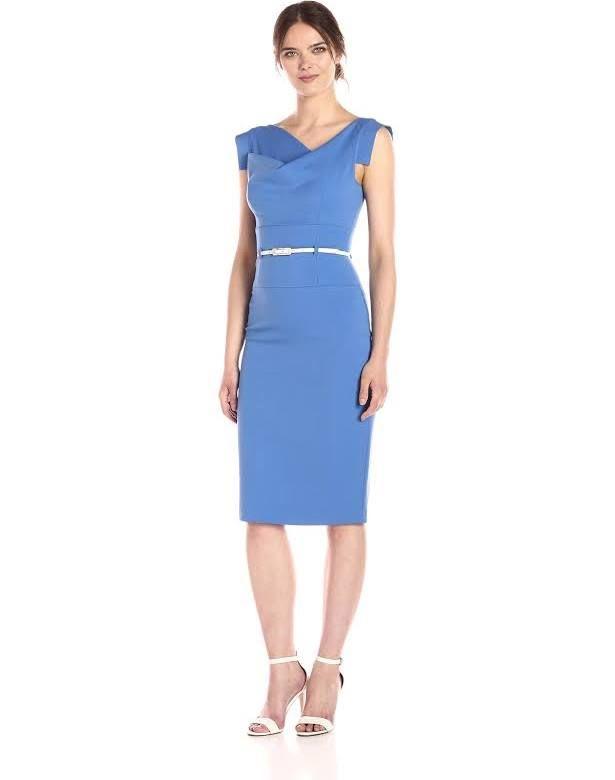 97928f3ec5d black halo solid sheath dress