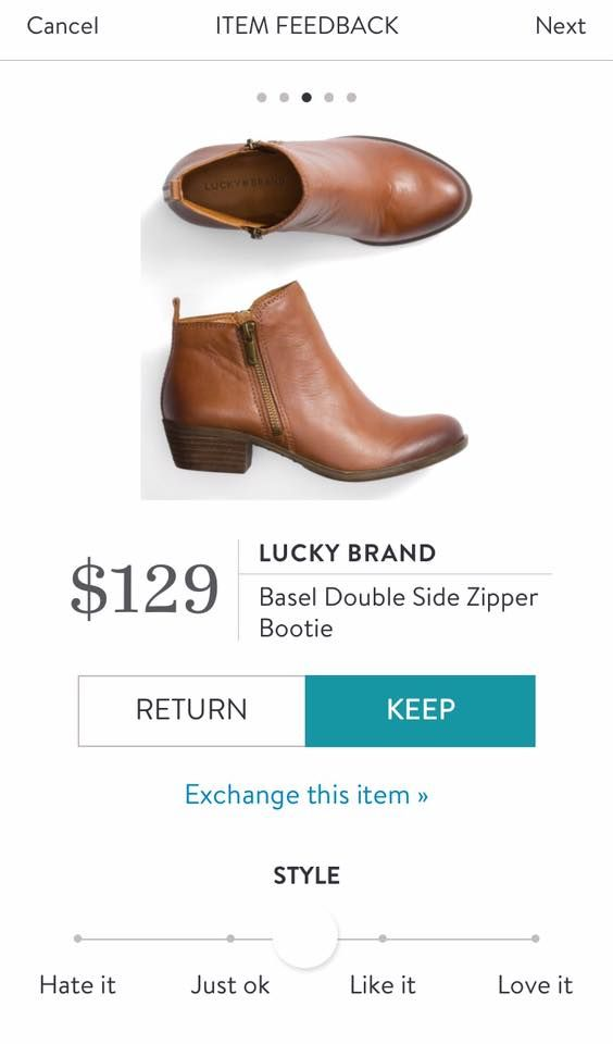LUCKY BRAND Basel Double Side Zipper Bootie from Stitch Fix. https://www.stitchfix.com/referral/4292370