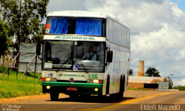 Ônibus da empresa Empresa de Transportes Andorinha, carro 5106, carroceria Marcopolo Paradiso GV 1450, chassi Mercedes-Benz O-400RSD. Foto na cidade de Teodoro Sampaio-SP por EldeR MacedO..., publicada em 24/01/2012 11:32:11.