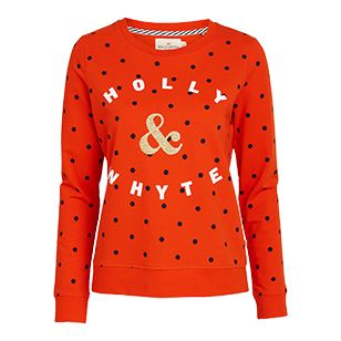 Mönstrad+sweatshirt+-+Lindex