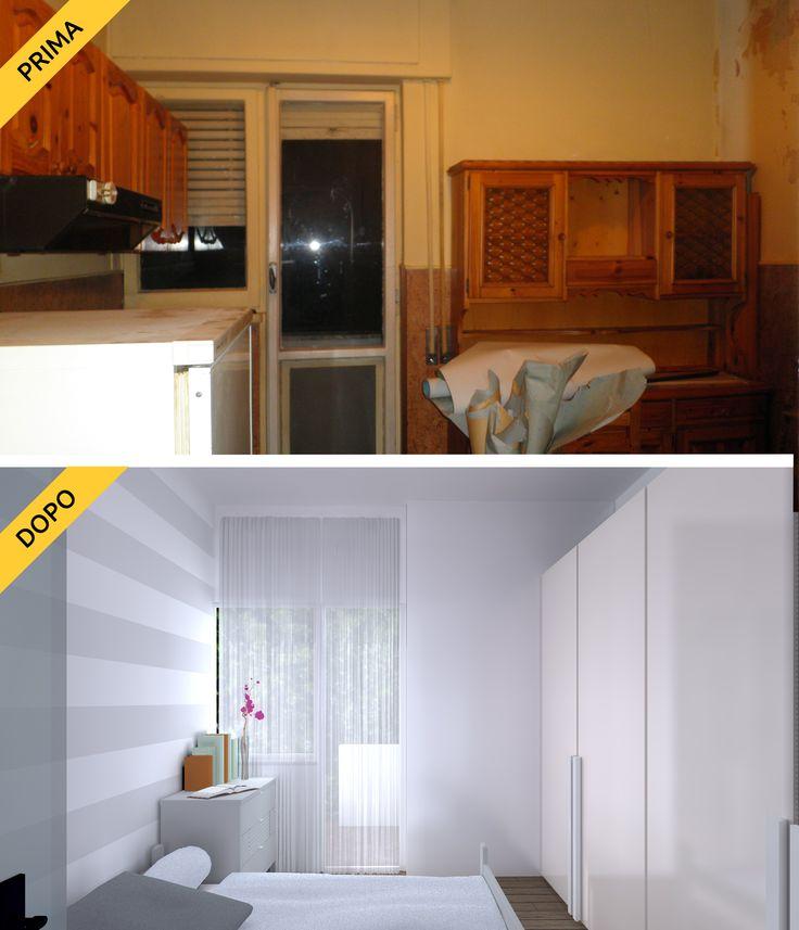 Hai un monolocale con cucina separata? Trasformala in camera da letto per avere una stanza in più! Relooking @ Novahouse.it
