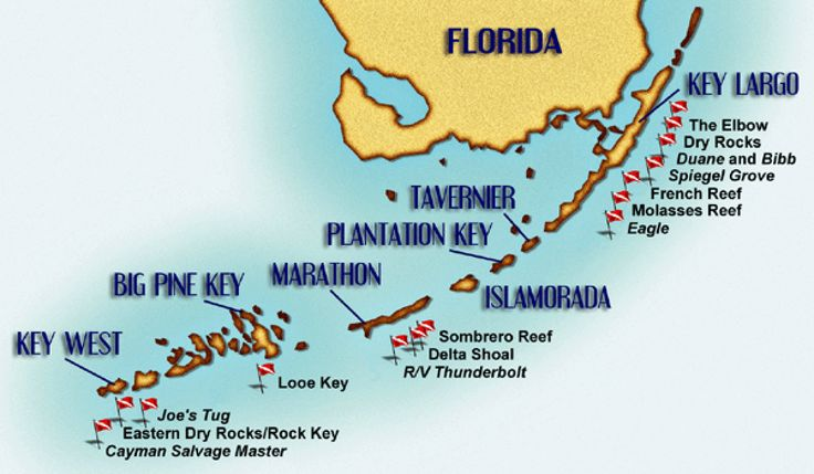 17 Best Ideas About Florida Keys Map On Pinterest