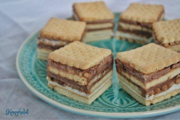 Tejfölös-kekszes süti – 10 perc alatt, sütés nélkül | Konyhalál