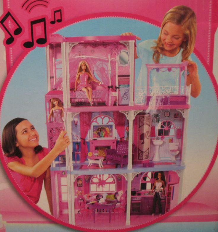 New NIB Barbie Townhouse Dreamhouse N7666-996B N7666 (2009) - Elev/Sound/Furn #Mattel