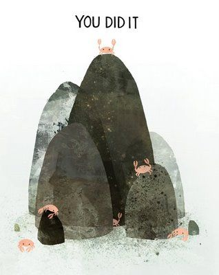 » Celebrate like a Champ: Not sure what's going on here, but whatever it is, I like it. Congratulations crab, you climbed the rock. Illustration by the very talented Jon Klassen