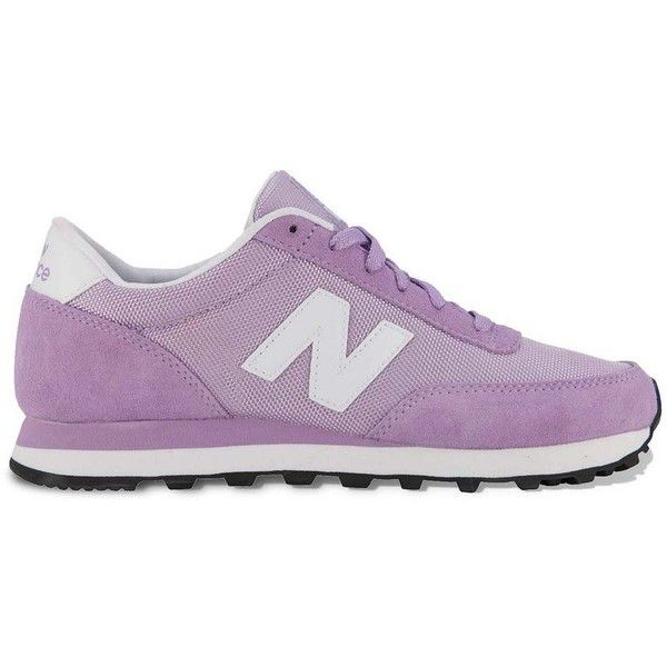 New Balance 501 Classic Athletic Shoes - Women (€41) ❤ liked on Polyvore featuring shoes, sneakers, trainers, zapatillas, purple, suede shoes, suede leather shoes, light weight shoes, purple suede shoes and suede lace up shoes