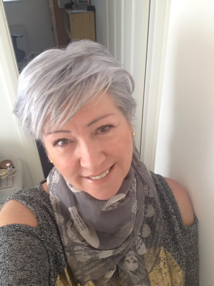 grey hair - beautiful!