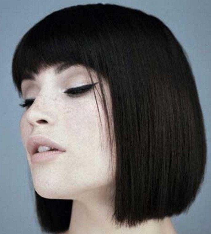 Siyah Küt Saç Modelleri