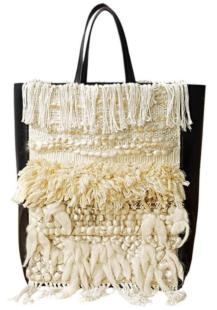 Woven Celine bag, S/S 2011  ooh to be behind a loom again...