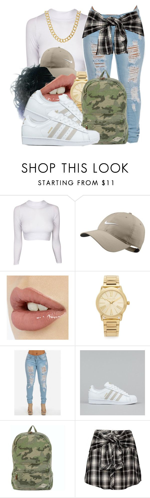 """Untitled #570"" by b-elkstone ❤ liked on Polyvore featuring NIKE, Michael Kors, adidas, Billabong and Coach"