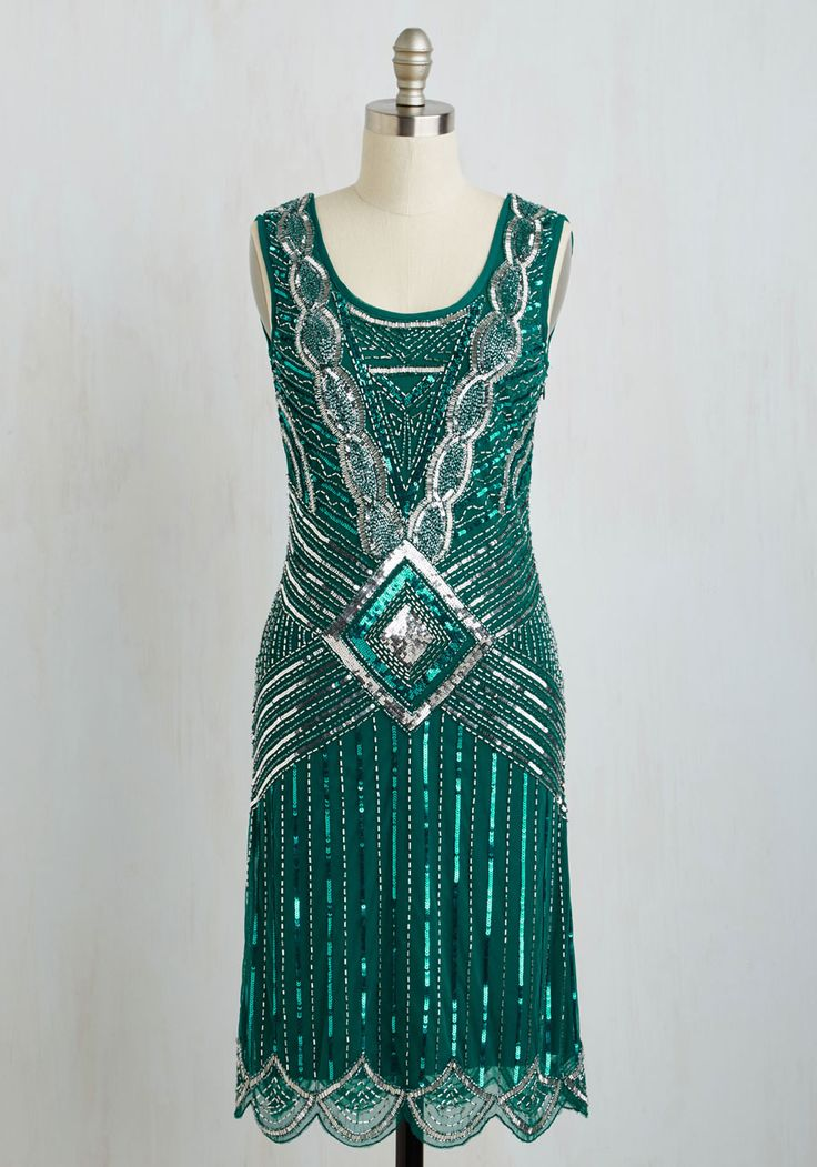 Special Occasion - Cabaret Soiree Dress in Emerald