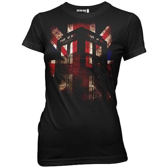 Doctor who tee Doctor who fitted women's Union Jack tee, never worn Tops Tees - Short Sleeve