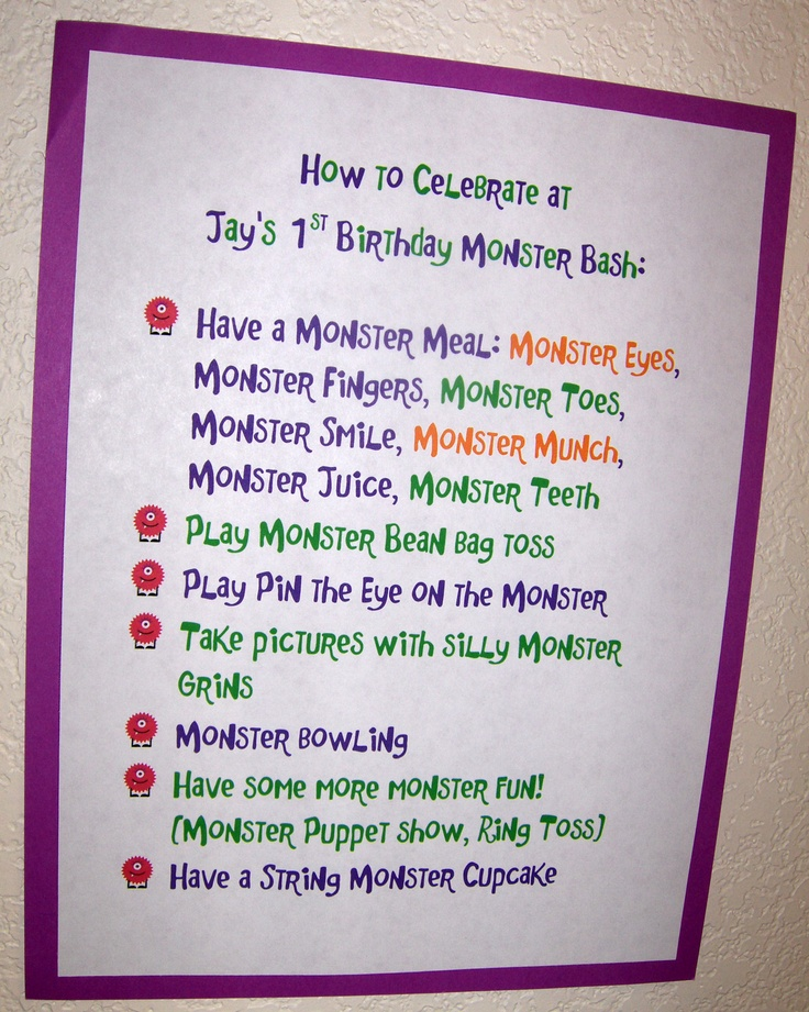 7 Ways To Celebrate At The Little Monsters Party