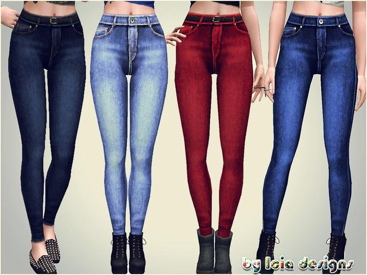 New highwaisted jeans, with faded recolorable and ancle zipper details.  Found in TSR Category 'Sims 3 Female Clothing'