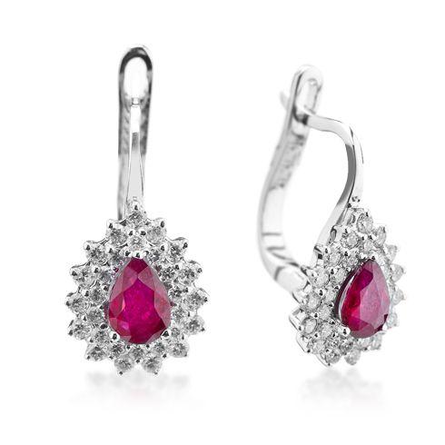 Coriolan - Cercei cu rubine si diamante C602