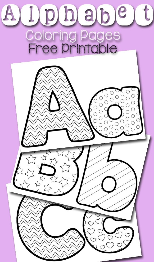 These free alphabet coloring pages are a fun way to practice the alphabet!