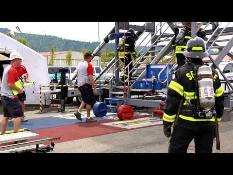 FIREFIGHTER COMBAT CHALLENGE SILVERWOOD - YouTube