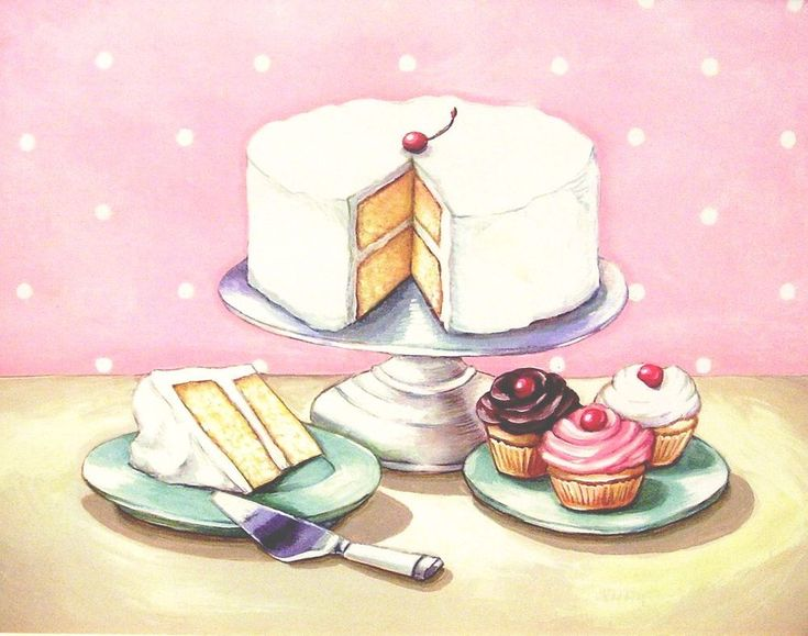 want this one too!  vintage bakery inspired old fashioned desserts print by Everyday is a Holiday
