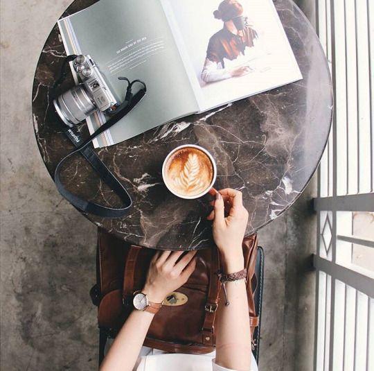 Enjoying a coffee break while on an adventure.