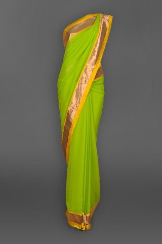 Featuring this beautiful Neon Green Sari in our wide range of Saris. Grab yourself one. Now!