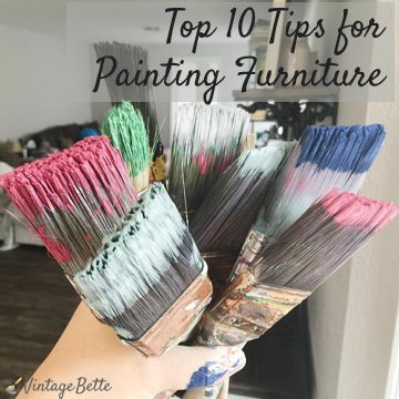 Vintage Bette's Top Tips for painting furniture and restyling old vintage furniture