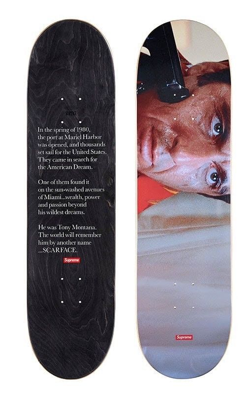 96ecfe96 Supreme Scarface Skateboard Deck FW17 #Supreme | Decks and Related ...