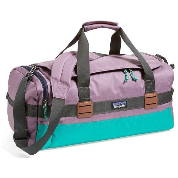 Patagonia 'Arbor' 30L Duffel Bag (115 NZD) ❤ liked on Polyvore featuring bags, luggage and tyrian purple