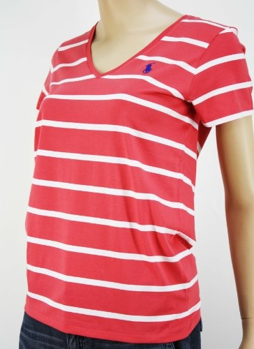 Polo Ralph Lauren Women's Pink Short Sleeve V-Neck « Clothing Impulse