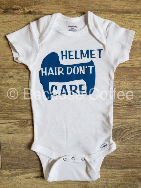 Cranial Helmet Onesie\u00ae  Doc Band Onesie\u00ae  Helmet Hair Don/'t Care Onesie\u00ae