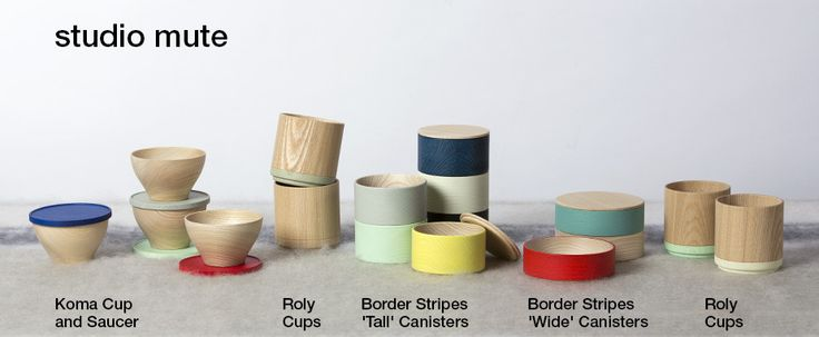 Delightful series of non-lacquer wood canisters and vessels  designed by studio mute.