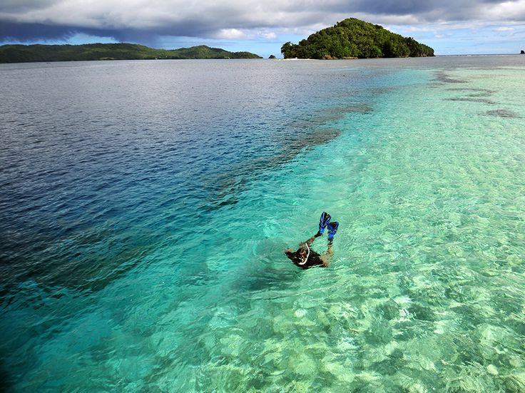 A snorkeler explores the clear waters around the Sangihe Islands in North Sulawesi, Indonesia. Perched in the Pacific between the Molucca and Celebes Seas, the Sangihes offer unspoiled beaches and rich coral reefs. Photograph by eyevine/Redux, February 8, 2015