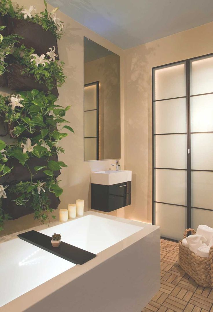 Creating modern spa bathroom for relaxing ambience