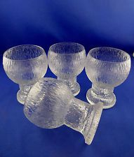 4 Iittala Kekkerit Water Goblet Glasses Timo Sarpaneva Finland