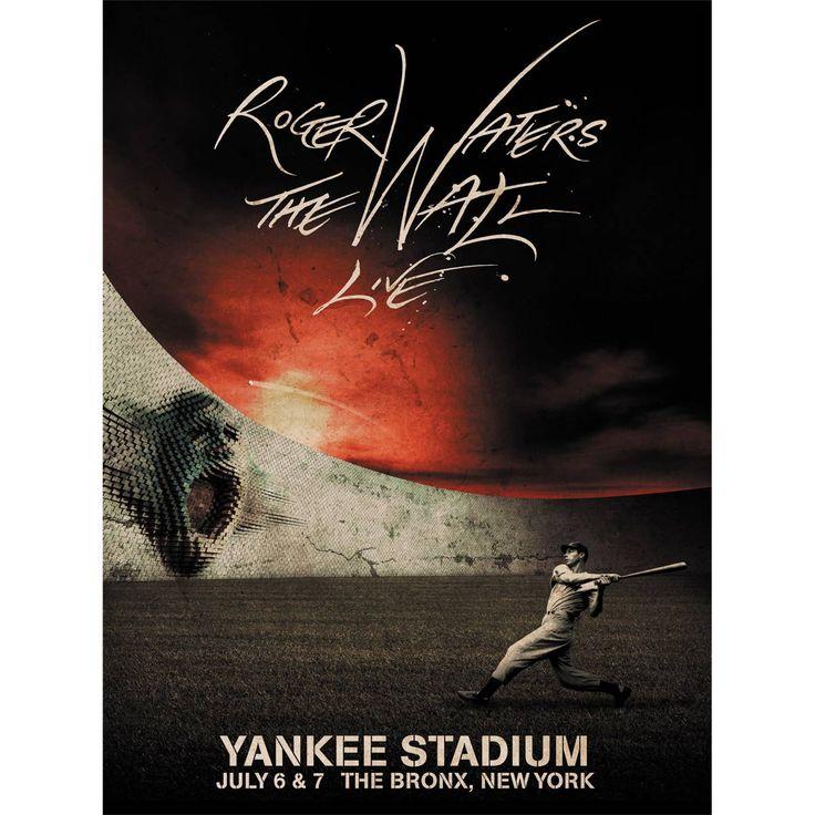 Pôster Roger Waters Yankee Stadium #RogerWaters #TheWall #YankeeStadium
