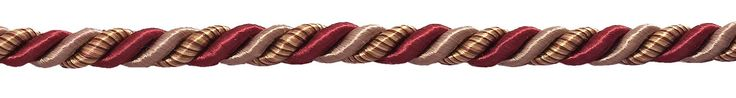 """Medium Burgundy Taupe Baroque Collection 5/16"""" Decorative Cord Without Lip Style# 516BNL Color: CRANBERRY HARVEST – 8612 (Sold by The Yard)"""
