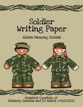 Veteran's Day Writing Paper {FREEBIE}